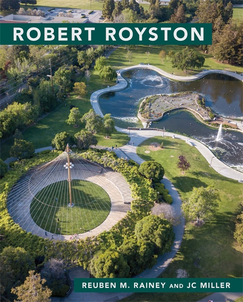robert royston book cover with aerial of garden
