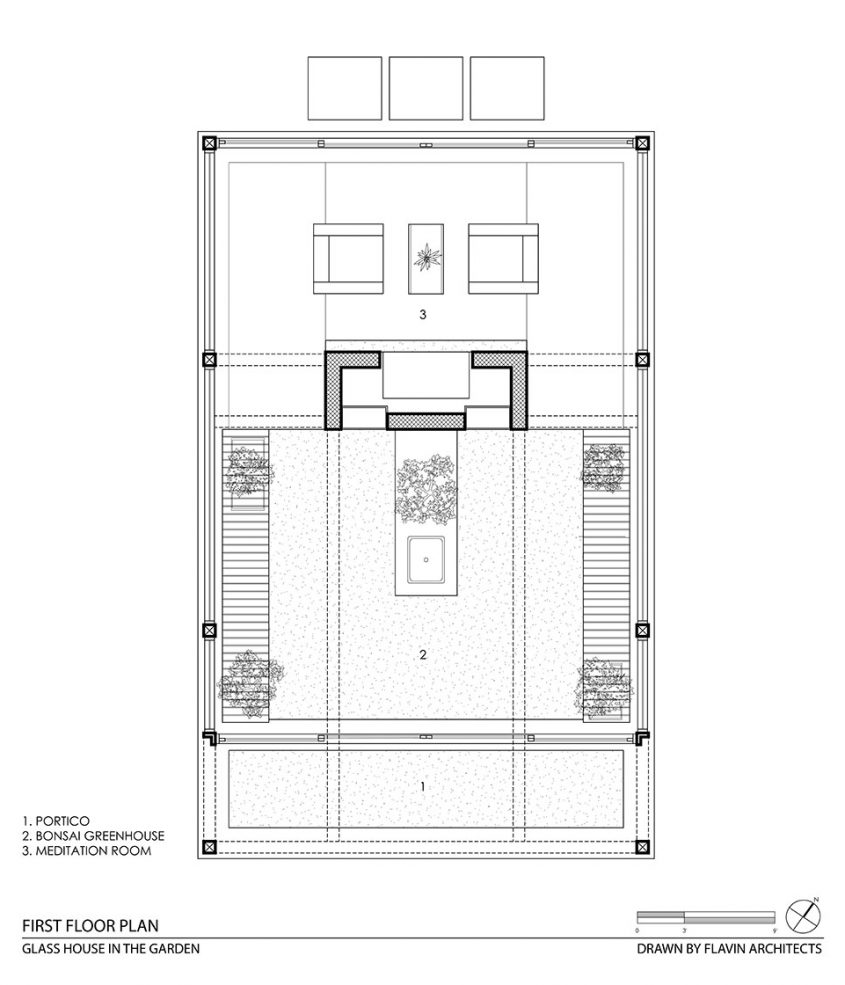 cad drawing floor plan greenhouse