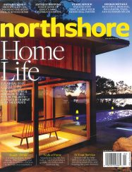 northshore magazine cover with pool and cabana oceanside
