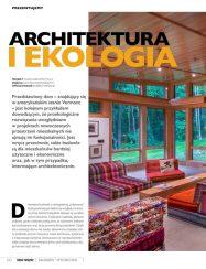 polish magazine editorial with living room interior detail