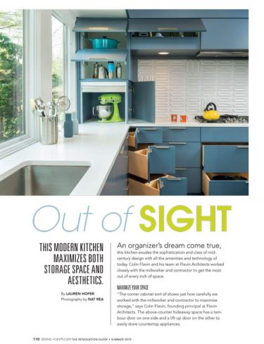 atomic ranch editorial with kitchen cabinet detail
