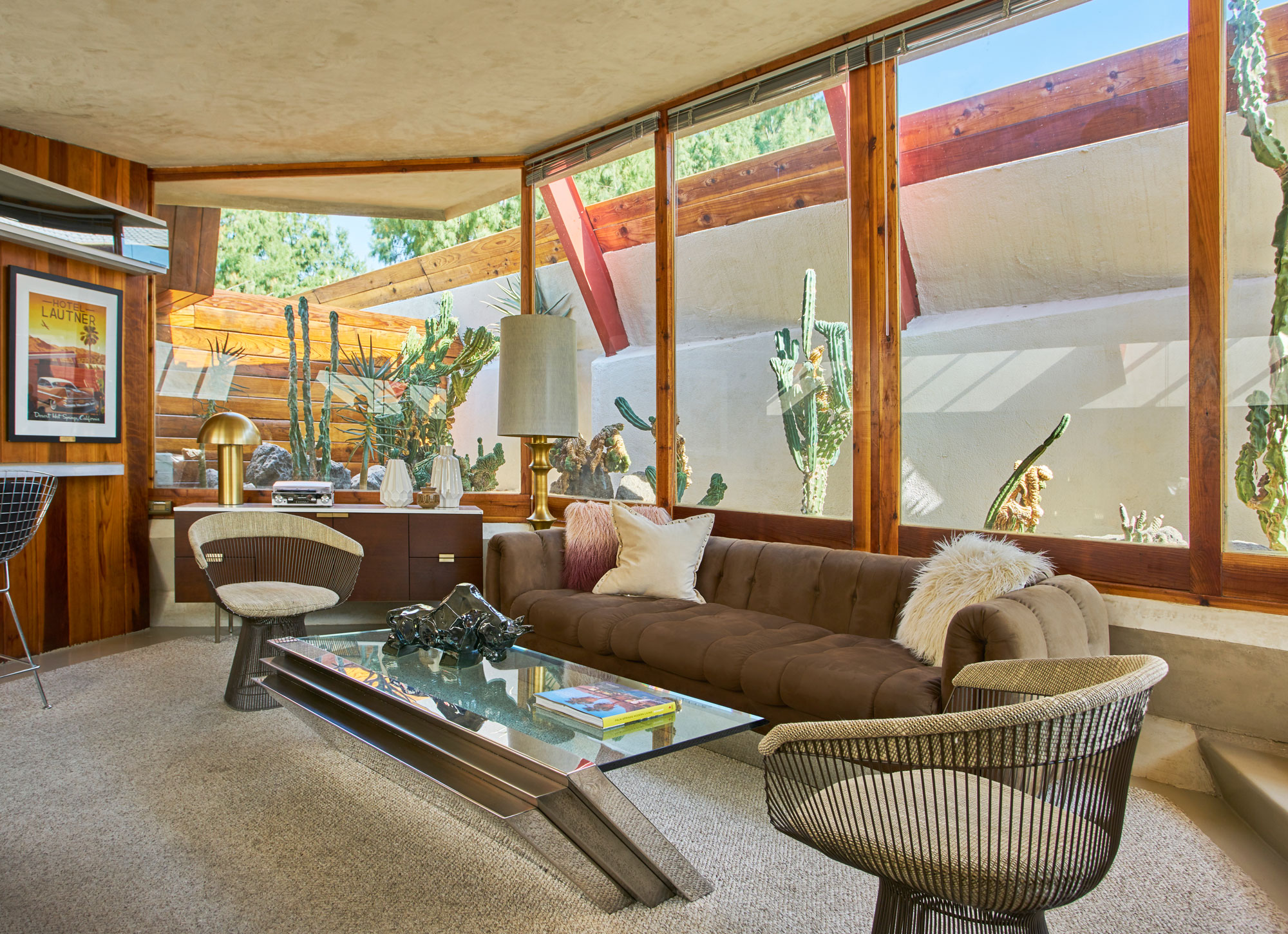 mid-century modern furnished living room