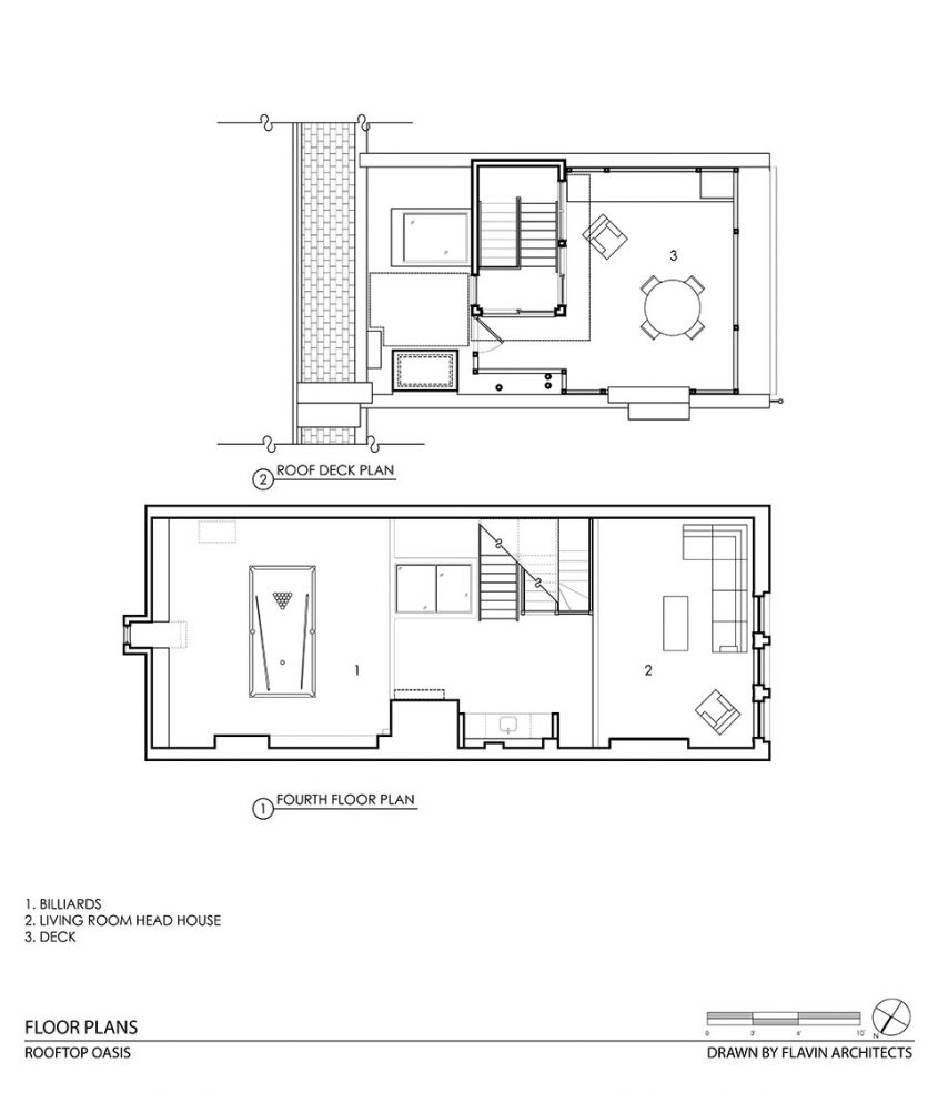 row house cad drawing floor plan of two floors