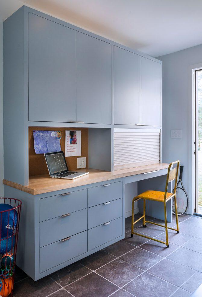custom cabinet kitchen office nook