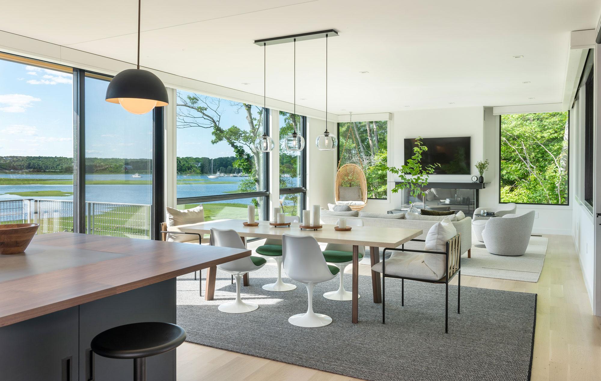 photo of interior at annisquam river house