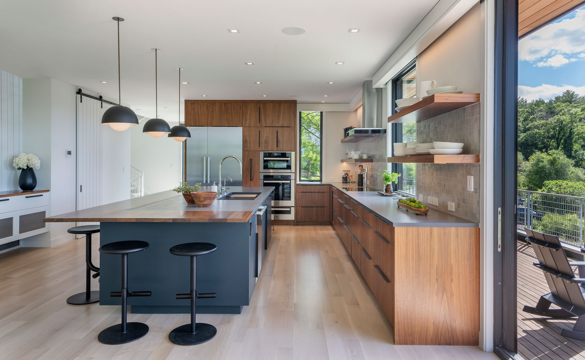 photo of kitchen in annisquam river house
