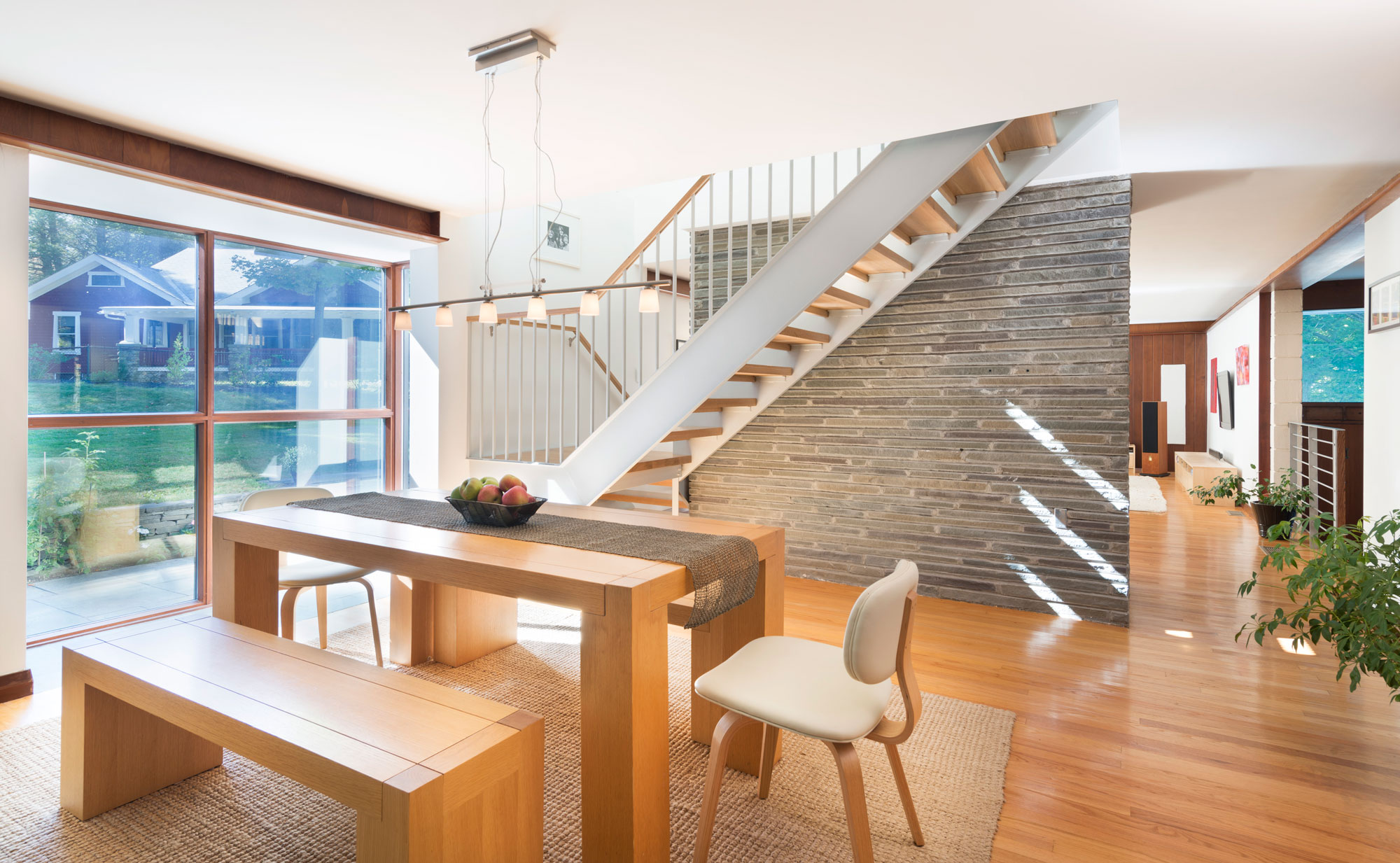 interior dining space in hajjar house