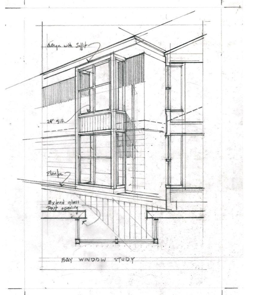 sketch of hajjar house