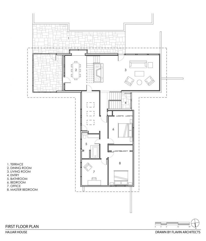 hajjar house cad drawing floor plan